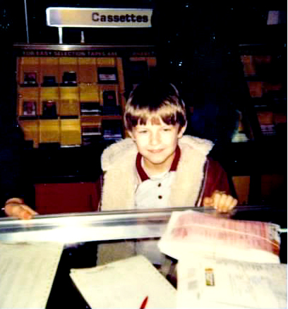 Me getting my first camera, circa 1981. (8th birthday)