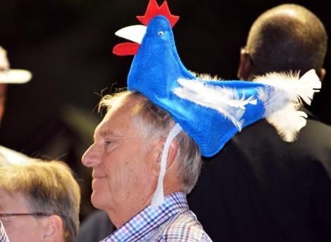 Patriotic clucker.